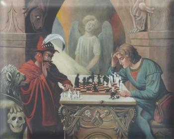 Obraz w Domu Rekolekcyjnym OO. Jezuitów w Czechowicach - Dziedzicach